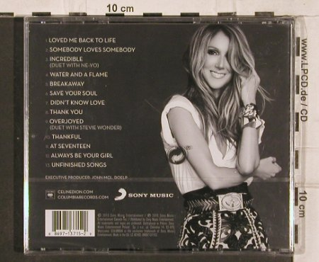 Dion,Celine: Loved me back to Life, FS-New, Sony(88679 13715 2), EU, 2013 - CD - 82175 - 5,00 Euro