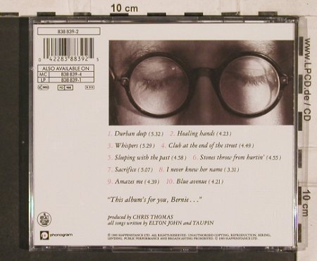 John,Elton: Sleeping with the past, Phonogram(838 839-2), D, 1989 - CD - 82192 - 7,50 Euro