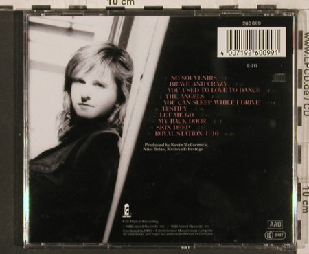 Etheridge,Melissa: Brave And Crazy, Island(260 099), D, 1989 - CD - 82246 - 5,00 Euro