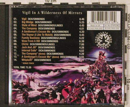 Fish: Vigil in a Wilderness of Mirrors, Chocolate Frog(CFVP009), UK, 14 Tr., 2002 - CD - 82250 - 12,50 Euro