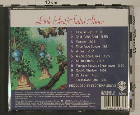 Little Feat: Sailin'Shoes, WB(7599-27258-2), D, 1972 - CD - 82268 - 7,50 Euro