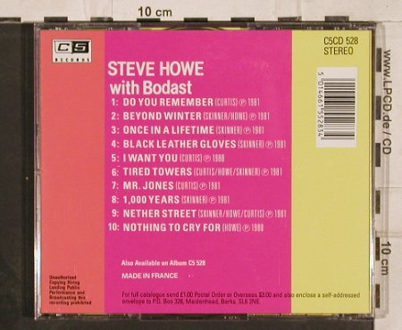 Howe,Steve with Bodast: The Early Years, C 5 Rec.(C5CD 528), F, 1988 - CD - 82282 - 10,00 Euro