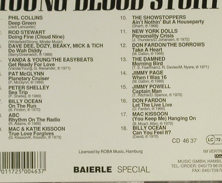 V.A.Young Blood Story: ABC,Fardon,Collins,C.Powell, Baierle(4637), D,  - CD - 82325 - 6,00 Euro
