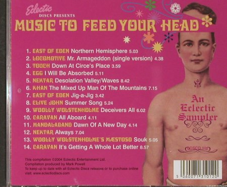 V.A.Music to Feed your Head: An Electric Sampler, Electric(), , 2004 - CD - 82333 - 7,50 Euro