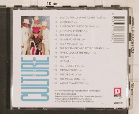 Culture Club: The Best Of, 16 Tr., Disky(), NL, 1989 - CD - 83023 - 5,00 Euro