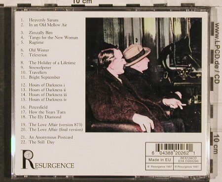 Eno,Roger: The Music of Neglected English Comp, Resurgence(), EU, 1997 - CD - 83075 - 6,00 Euro