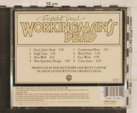 Grateful Dead: Workingman's Dead, WB(), D, 1970 - CD - 83111 - 7,50 Euro
