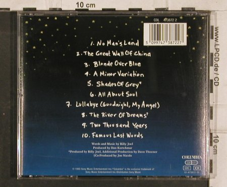 Joel,Billy: The River Of Dreams, Columbia(), A, 1993 - CD - 83150 - 4,00 Euro