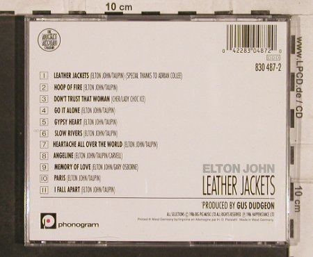 John,Elton: Leather Jackets, Rocket(830 487-2), D, 1986 - CD - 83158 - 7,50 Euro