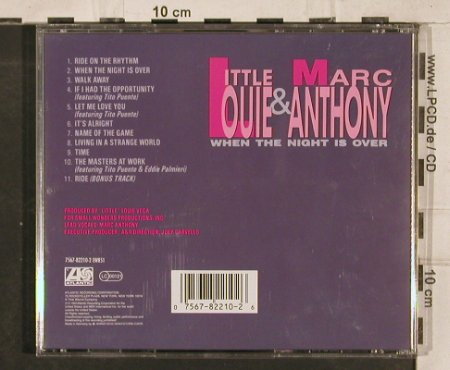 Little Louie+Marc Anthony: When the Night is over, Atlantic(), D, 1991 - CD - 83180 - 6,00 Euro