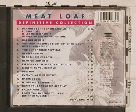 Meat Loaf: Definitive Collection-Best o.t.Best, Epic(480567 2), A,16Tr., 1995 - CD - 83220 - 6,00 Euro