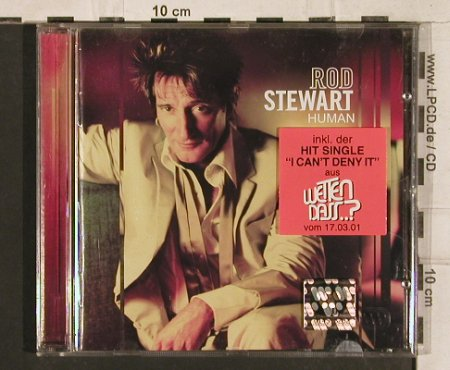 Stewart,Rod: Human (wetten dass..? sticker), Atlantic(), D, 2001 - CD - 83340 - 10,00 Euro