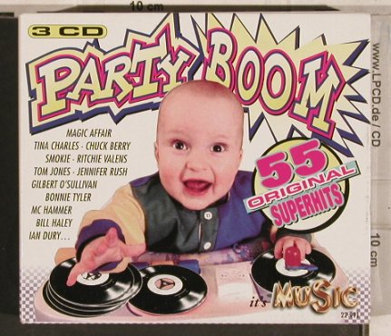 V.A.Party Boom: St.Massimo...Ian Dury,Box,55Tr., It's Music(22 911), D, 1995 - 3CD - 83711 - 10,00 Euro