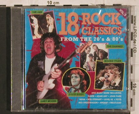 V.A.18 Rock Classics Vol.3: 70's&80's,John Parr...David Essex, Pickwick(PMP 102), UK,FS-New,  - CD - 83724 - 6,00 Euro