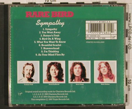 Rare Bird: Sympathy (1969-1970), Virgin(CDOVD 280), NL, 1990 - CD - 83752 - 7,50 Euro