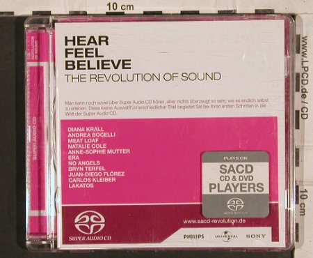 V.A.Hear Feel Believe-Revol.o.Sound: 11Hörpro.Kleiber Beethoven..D.Krall, Philips(SACD Promo 2), EU, 2003 - CD - 83764 - 7,50 Euro