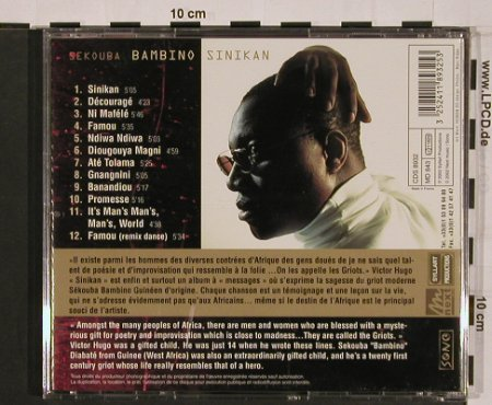Bambino,Sekouba: Sinikan, Syllart Productions(CDS 8932), EU, 2002 - CD - 84120 - 10,00 Euro
