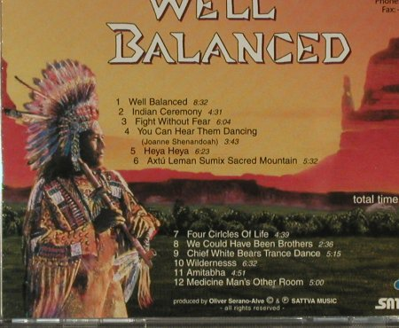 Shanti,Oliver & Friends: Well Balanced, Sattva Music(), D, 1995 - CD - 84169 - 7,50 Euro