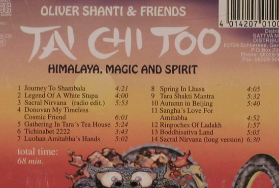 Shanti,Oliver & Friends: Tai Chi Too, Sattva(SKV 005), D, 1996 - CD - 84170 - 7,50 Euro