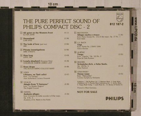 V.A.Pure Perfect Sound Of Philips: CD 2,Elton John...Stravinsky, Philips(812 187-2), D, 1983 - CD - 84294 - 30,00 Euro