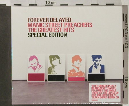 Manic Street Preachers: Forever Delated,Greatest Hits,sp.Ed, Sony(), UK,FS-New, 2002 - 2CD - 90211 - 14,00 Euro