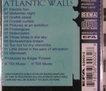 Tangerine Dream: Atlantic Walls, FS-New, TDI(003), D,  - CD - 90425 - 10,00 Euro