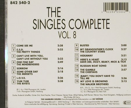 V.A.The Star Club: Singles Complete Vol.8, Star Club(), D,  - CD - 91043 - 12,50 Euro