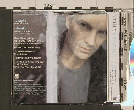 Sting: Fragile*2,Promo, A&M(STCDP1), D, 01 - CD5inch - 91114 - 9,00 Euro