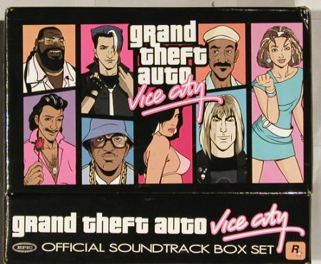 V.A.Grand Theft Auto: Vice City Box Set,CDsFS-New,box vg+, Epic(EXK-87009), US, 02 - 7CD - 91224 - 20,00 Euro