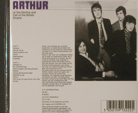 KINKS: Arthur Of The Decline'69,Digi,dutch, Sanctuary(CMTcd322), UK,FS-New, 2001 - CD - 91756 - 10,00 Euro