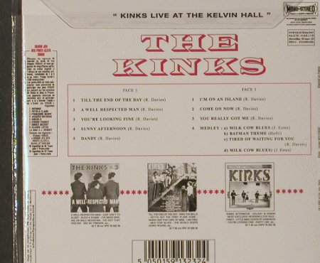 KINKS: Live At The Kelvin Hall '67,Digi, Sanctuary(CMTcd323), UK,FS-new, 2001 - CD - 91757 - 10,00 Euro