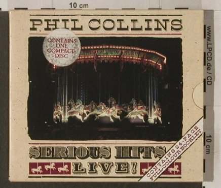 Collins,Phil: Serious Hits...Live,Schuber,Booklet, WEA(), D, 90 - CD - 92150 - 10,00 Euro
