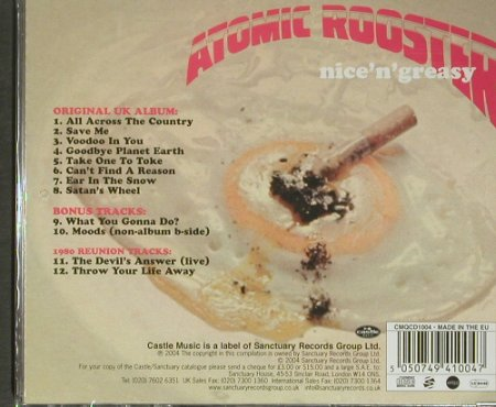 Atomic Rooster: Nice'n'Greasy, FS-New, Sanctuary(), EU, 2004 - CD - 92281 - 10,00 Euro