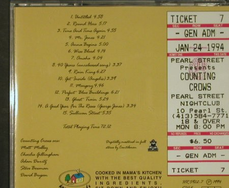 Counting Crows: Hottest Ticket In Boston!, Home(HR 5922-1), EU, 1994 - CD - 92553 - 10,00 Euro
