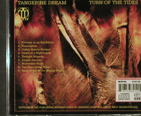 Tangerine Dream: Turn Of The Tides, TDI(019), D, 2003 - CD - 92744 - 10,00 Euro