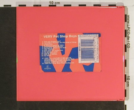 "Pet Shop Boys: Very , ""original case"", Parloph.(), NL, 1993 - CDgx - 93224 - 15,00 Euro"