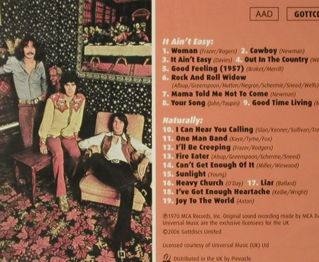 Three Dog Night: It Ain't Easy/Naturally,FS-New, Gott Discs(), UK, 2006 - 2CD - 93556 - 11,50 Euro