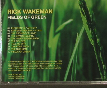 Wakeman,Rick: Fields of Green,FS-New, Music Fusion(), EU, 2006 - CD - 93620 - 11,50 Euro
