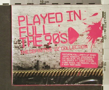 V.A.Played in Full: The 90's, BoxSet, FS-New, Resist(), UK, 2006 - 3CD - 93902 - 12,50 Euro
