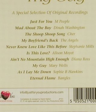 V.A.Just for You: My Guy, FS-New, Just for You(), , 2004 - CD - 94271 - 5,00 Euro