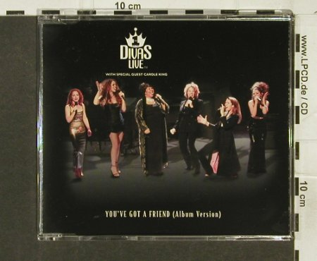 VH1 Divas Live: You've got a friend(AlbumVers.)1Tr., Epic(6288), , 1998 - CD5inch - 94288 - 10,00 Euro