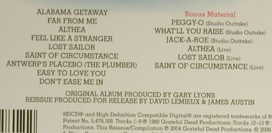 Grateful Dead: Go to Heaven, Digi, Rhino(), EU, 2006 - CD - 94299 - 11,50 Euro