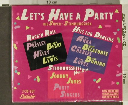 V.A.Let's Have A Party: R'n'R,Hits f.Dancing,StimmungsHits, Exclusive(444 150), Box,FS-New,  - CD - 94589 - 10,00 Euro