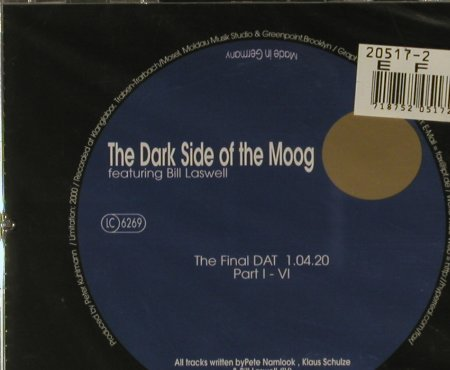 Laswell,Bill /P.Namlook/K.Schulze: The Dark SideOf the Moog VI, PK 08/133(), D, FS-New,  - CD - 94868 - 12,50 Euro