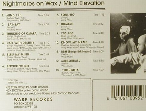 Nightmares On Wax: Mind Elevation, Warp(126.3817.2), UK, 2002 - CD - 95137 - 10,00 Euro