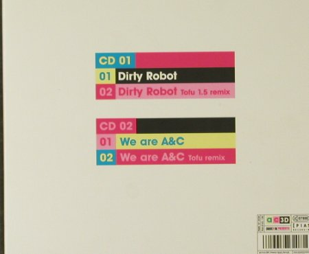 "Arling & Cameron: Dirty Robot*2/We areA&C*2,Digi, Emperor(944.0101.120), EU, 2001 - CD5""*2 - 95205 - 5,00 Euro"