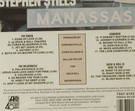 Stills,Stephen: Manassas, FS-New, Atlantic(), D, 1972 - CD - 95251 - 11,50 Euro