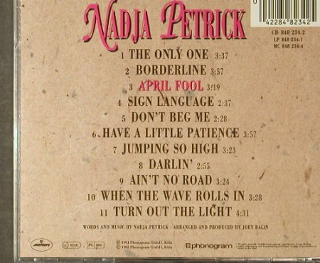 Petrick,Nadja: April Fool, Mercury(848 234-2), D, 1992 - CD - 95406 - 10,00 Euro