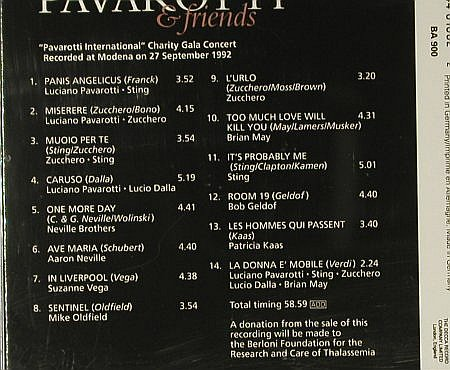 Pavarotti & Friends: Same, Decca(440 100-2), D, 1993 - CD - 95475 - 7,50 Euro
