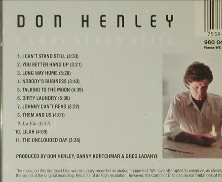 Henley,Don: I Can't Stand Still, Asylum(960 048-2), D, 1982 - CD - 95499 - 10,00 Euro